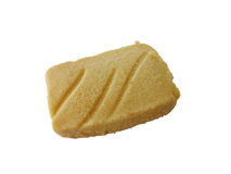 Shortbread cookie. A home-made shortbread cookie isolated against a white background Royalty Free Stock Photo