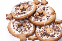 Shortbread cookie under glaze Stock Photos