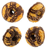 Shortbread cookies with chocolate from different angles Stock Images