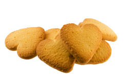 Shortbread. Cookies closeup on white background Stock Image