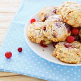 Shortbread cookies with cranberries Royalty Free Stock Photography