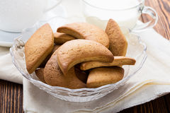 Shortbread cookies and cup of milk Stock Images