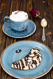 Shortbread Cookies in the Form of the Moon with Coffee Stock Photography