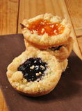 Shortbread cookies with jam Royalty Free Stock Image