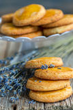 Shortbread cookies with lavender. Stock Image