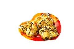 Shortbread cookies on  plates Stock Photo