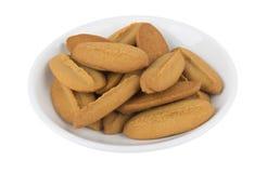 Shortbread cookies in saucer Stock Image
