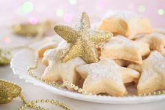 Shortbread cookies. In the shape of a star Royalty Free Stock Photo