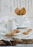 Shortbread and a cup of coffee Royalty Free Stock Image