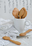 Shortbread and a cup of coffee Stock Images