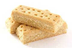 Shortbread finger biscuits Stock Photo