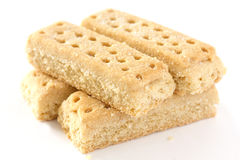 Shortbread finger biscuits Stock Photos