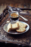 Shortbread and a Glass of Coffee Royalty Free Stock Image