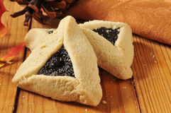 Shortbread poppyseed cookies Stock Images