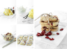 Shortbread Recipe Montage Stock Image