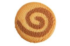 Shortbread redondo com chocolate Imagens de Stock