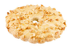 Shortbread ring with peanuts Stock Image