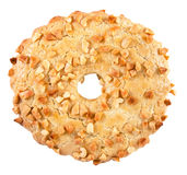 Shortbread ring with peanuts Stock Images