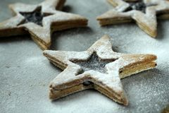Shortbread stars Stock Images