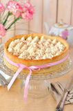 Whipped Cream Topped Tart Stock Photo