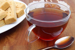 Shortbread and tea Stock Photo