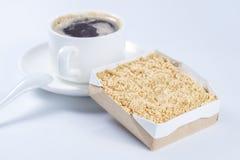 Shortbread zbliżenia tła tortowa filiżanka kawy Zdjęcie Royalty Free