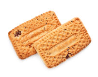 Shortbreads Cookies With Raisins Stock Photos