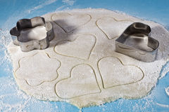 Shortcake ciasto dla ciastek i formy dla ciąć Obrazy Stock