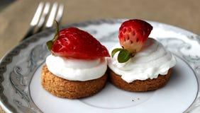 Shortcake da morango Fotos de Stock Royalty Free