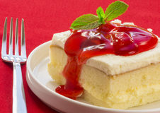 Shortcake da morango Foto de Stock