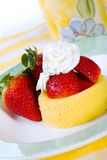 Shortcake da morango Fotografia de Stock Royalty Free