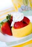 Shortcake de fraise Photographie stock libre de droits