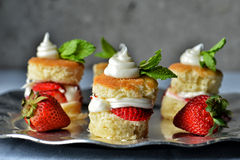 Shortcake de la fresa Imagen de archivo libre de regalías