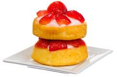 Shortcake della fragola Fotografie Stock