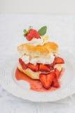 Shortcake della fragola Fotografia Stock Libera da Diritti