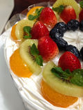 Shortcake do fruto fotografia de stock