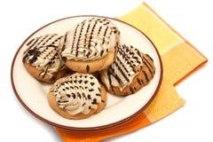 Shortcake met witte en zwarte chocolade Royalty-vrije Stock Foto's