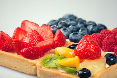 Shortcakes with berries Stock Photography
