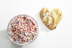 Shortcrust-biscuit with sugar pearls Stock Photography