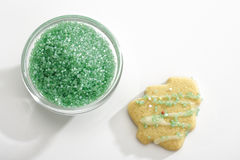 Shortcrust-biscuit with sugar pearls Royalty Free Stock Photography