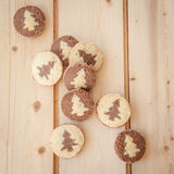 Shortcrust cookies for christmas Royalty Free Stock Photography