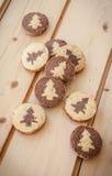 Shortcrust cookies for christmas Stock Image