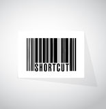 Shortcut barcode sign concept illustration Stock Photography
