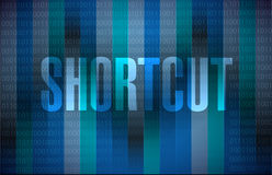 Shortcut binary sign concept illustration Stock Photography