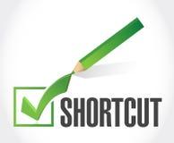 Shortcut check mark sign concept Stock Photo