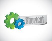 Shortcut gear sign concept illustration Stock Images