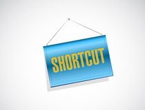 Shortcut hanging sign concept illustration Royalty Free Stock Photos