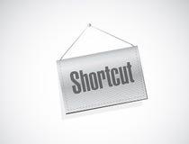 Shortcut hanging sign concept Royalty Free Stock Photos