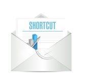 Shortcut mail sign concept illustration design Stock Images