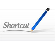 Shortcut message sign concept illustration Royalty Free Stock Photo